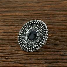 103975 Indo Western Classic Ring With Oxidised Plating