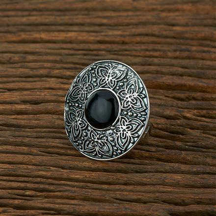 103990 Indo Western Classic Ring With Oxidised Plating