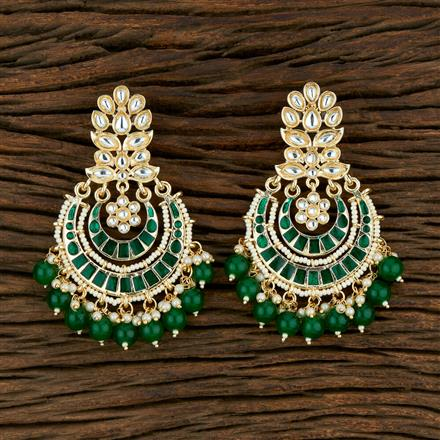 104026 Indo Western Meenakari Earring With Gold Plating