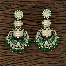 104029 Indo Western Meenakari Earring With Gold Plating