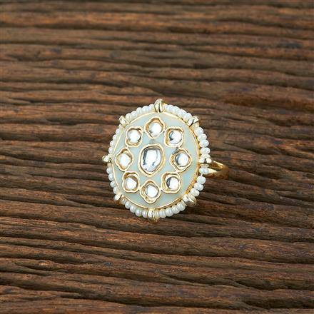 104032 Indo Western Classic Ring With Gold Plating