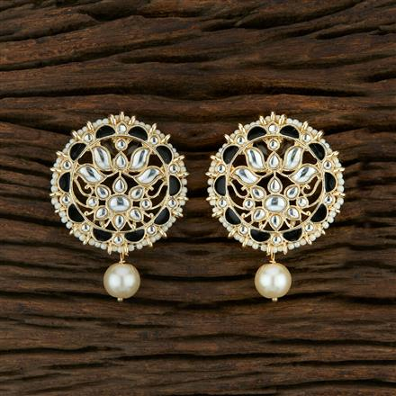 104036 Indo Western Meenakari Earring With Gold Plating