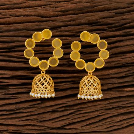 104192 Indo Western Jhumkis With Gold Plating