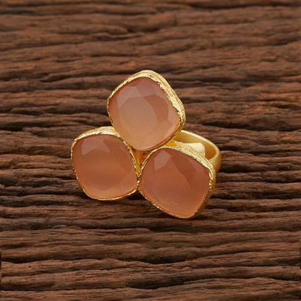 104194 Indo Western Classic Ring With Gold Plating