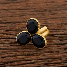 104195 Indo Western Classic Ring With Gold Plating