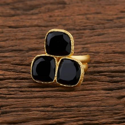 104196 Indo Western Classic Ring With Gold Plating