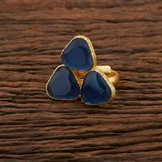 104197 Indo Western Classic Ring With Gold Plating