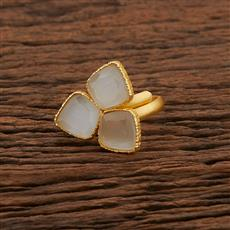 104198 Indo Western Classic Ring With Gold Plating