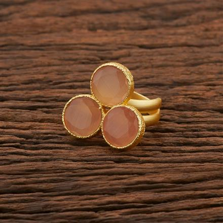 104199 Indo Western Classic Ring With Gold Plating