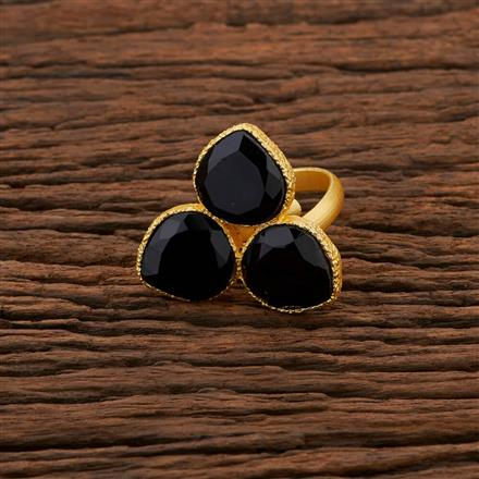 104200 Indo Western Classic Ring With Gold Plating