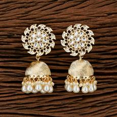 104201 Indo Western Jhumkis With Gold Plating