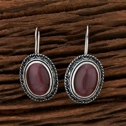 104206 Indo Western Classic Earring With Oxidised Plating