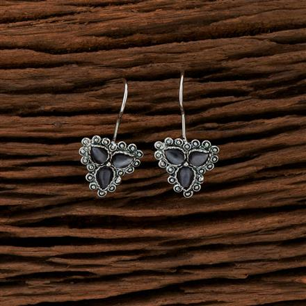 104207 Indo Western Classic Earring With Oxidised Plating