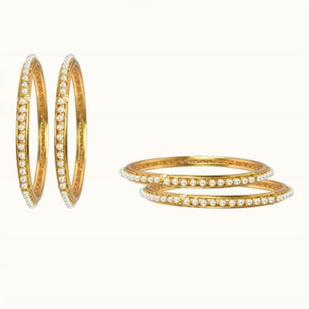 10420 Antique Classic Bangles with gold plating