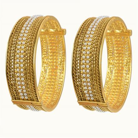 10421 Antique Openable Bangles with gold plating