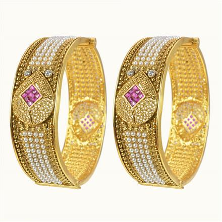 10422 Antique Openable Bangles with gold plating