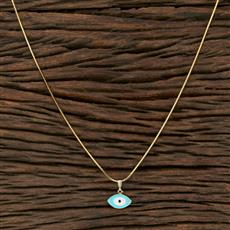 104240 Indo Western Classic Pendant Set With Gold Plating