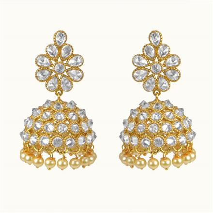 10424 Antique Jhumki with gold plating