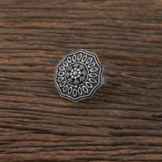104333 Indo Western Classic Ring With Oxidised Plating