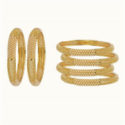 10444 Antique Classic Bangles with gold plating