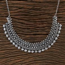 104507 Indo Western Classic Necklace With Oxidised Plating