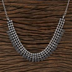 104523 Indo Western Classic Necklace With Oxidised Plating