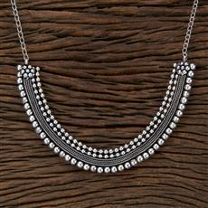 104528 Indo Western Classic Necklace With Oxidised Plating
