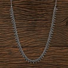 104529 Indo Western Classic Necklace With Oxidised Plating