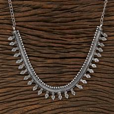 104536 Indo Western Classic Necklace With Oxidised Plating