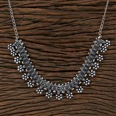 104543 Indo Western Classic Necklace With Oxidised Plating
