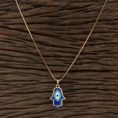 104566 Indo Western Classic Pendant Set With Gold Plating