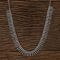 104568 Indo Western Classic Necklace With Oxidised Plating