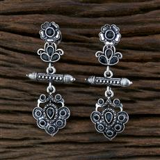 104574 Indo Western Trendy Earring With Oxidised Plating
