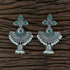 104575 Indo Western Trendy Earring With Oxidised Plating