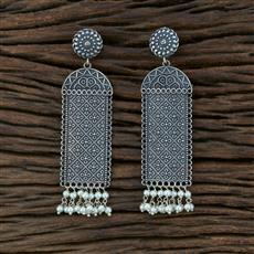 104591 Indo Western Classic Earring With Oxidised Plating