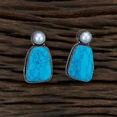 104592 Indo Western Classic Earring With Oxidised Plating
