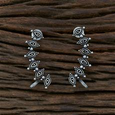 104595 Indo Western Classic Earring With Oxidised Plating
