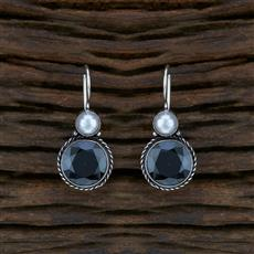 104597 Indo Western Classic Earring With Oxidised Plating