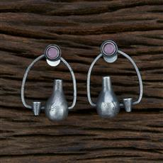 104614 Indo Western Trendy Earring With Oxidised Plating