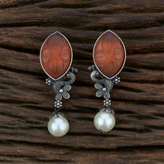104616 Indo Western Trendy Earring With Oxidised Plating