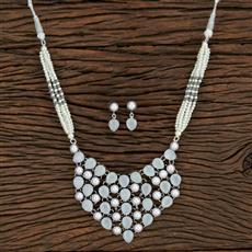 104625 Indo Western Trendy Necklace With Oxidised Plating