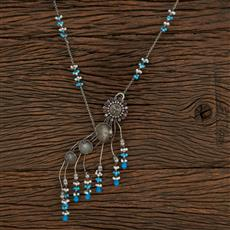 104630 Indo Western Trendy Necklace With Oxidised Plating