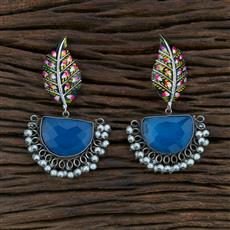 104631 Indo Western Trendy Earring With Oxidised Plating