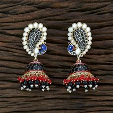 104662 Indo Western Meenakari Earring With Gold Plating