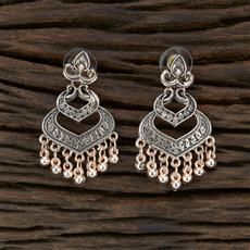 104679 Indo Western Classic Earring With Rose Gold Plating