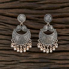 104685 Indo Western Classic Earring With Rose Gold Plating