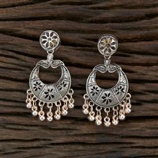 104688 Indo Western Classic Earring With Rose Gold Plating