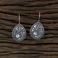 104724 Indo Western Classic Earring With Oxidised Plating