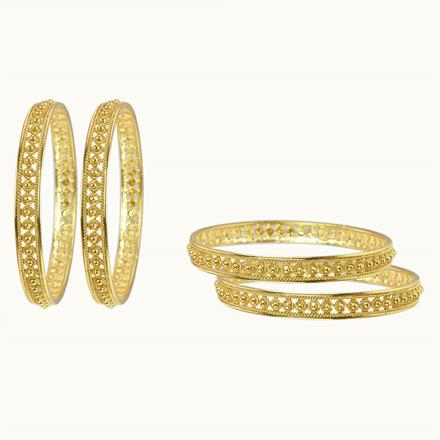10484 Antique Plain Gold Bangles