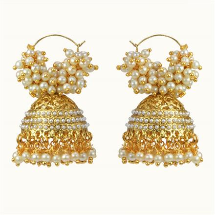 10486 Antique Jhumki with gold plating